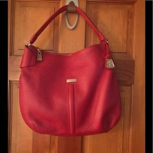 Authentic Cole Haan red pebbled leather Hobo.
